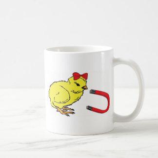 Mug L'homme de la dame drôle d'aimant de poussin