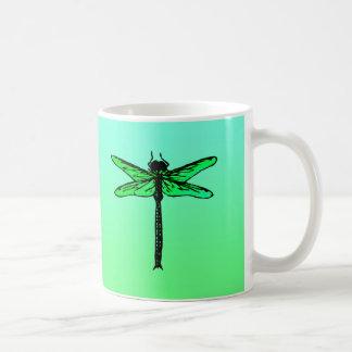 Mug Libellule japonaise vintage, vert vert