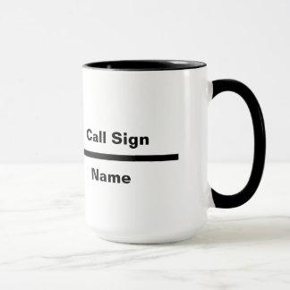 Mug Ligne indicatif d'appel de fréquence de