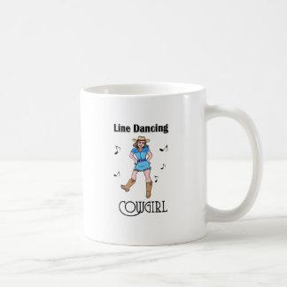 """Mug """"Ligne occidentale cow-girl de danse """""""