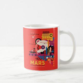 Mug L'illustration d'exploration d'espace de Mars de
