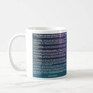 Mug Liste de contrôle de comportement de rechute