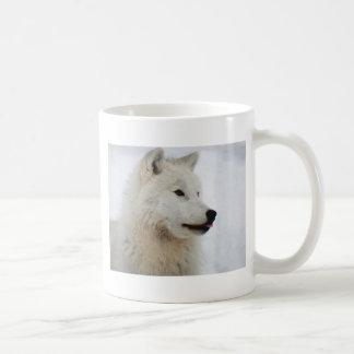 Mug Loup arctique collant sa langue