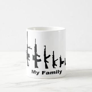 Mug Ma famille (armes à feu d'amour d'I)