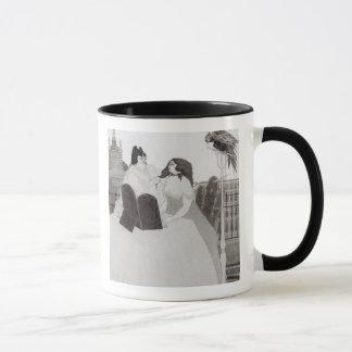 Mug Madame à la coiffeuse (encre et lavage)