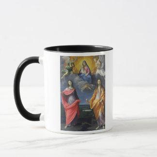 Mug Madonna et enfant avec St Lucy et Mary Magdalene