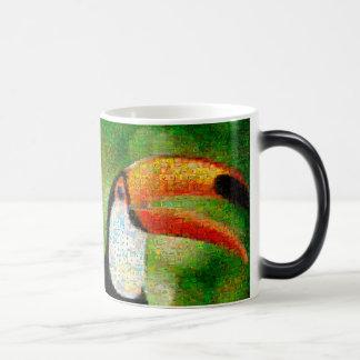 Mug Magique Art de collage-toucan de toucan - art de collage