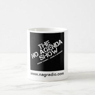 Mug Magique Aucun noir d'exposition d'ordre du jour