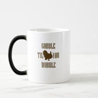 Mug Magique Cadeau drôle de thanksgiving de la Turquie