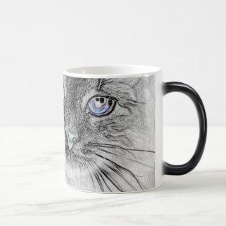 Mug Magique Chat de Kitty de Sibérien faisant une sieste sur