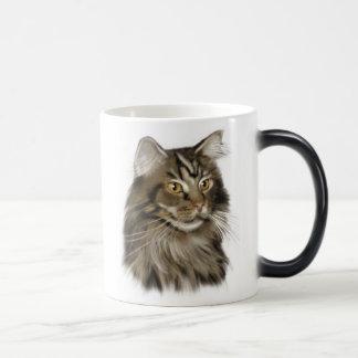 Mug Magique Chat de ragondin tigré noir du Maine