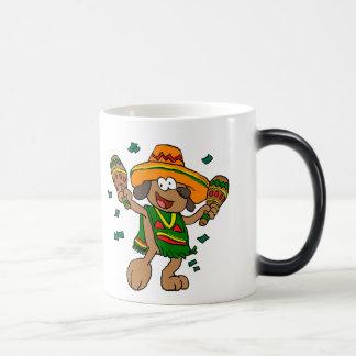 Mug Magique Chiens mexicains avec des maracas
