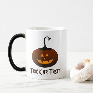 Mug Magique Citrouille effrayant éffrayant de Halloween