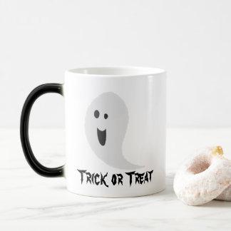 Mug Magique Fantôme souriant éffrayant de des bonbons ou un