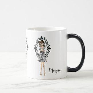 Mug Magique Fille à la mode mignonne avec des verres