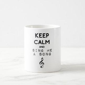 Mug Magique gardez le calme et chantez-moi une chanson