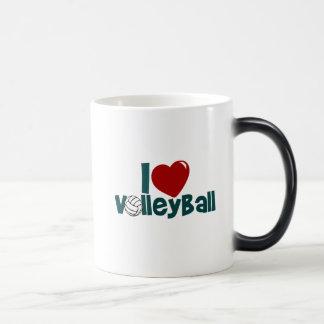 Mug Magique J'aime le volleyball