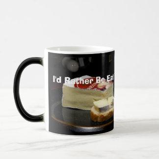 Mug Magique Je mangerais plutôt le brie avec mon thé