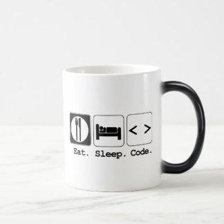 Mug Magique mangez le code de sommeil