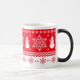 Mug Magique Noël rouge et blanc