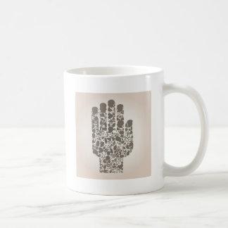 Mug Main d'une partie d'un corps