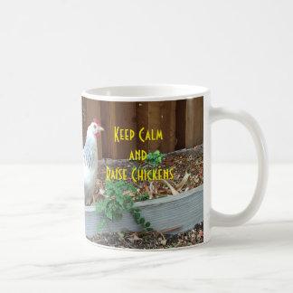 Mug Maintenez les poulets calmes et d'augmenter