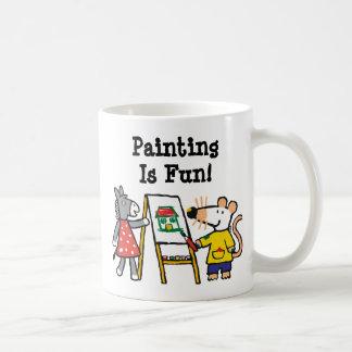Mug Maisy et peinture pointillée à l'école maternelle