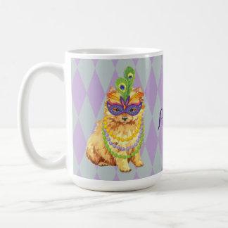 Mug Mardi gras Pomeranian