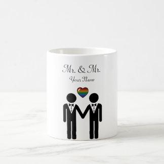 Mug Marié de silhouette et marié - grands
