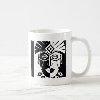 Mug Masque africain noir et blanc