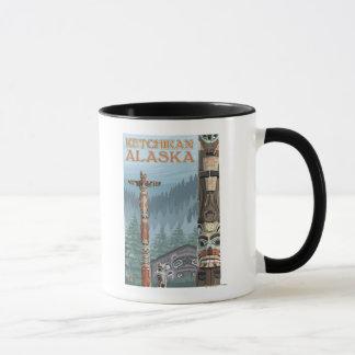 Mug Mâts totémiques de l'Alaska - Ketchikan, Alaska