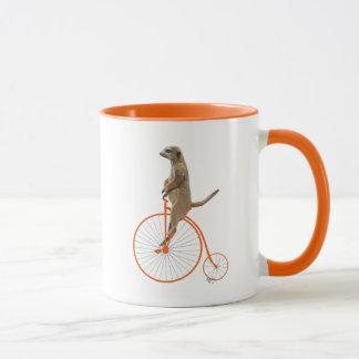 Mug Meerkat sur le quart de penny orange de penny