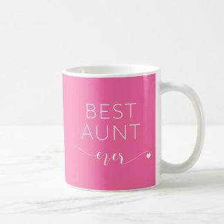 Mug Meilleure tante Ever avec le message personnel de