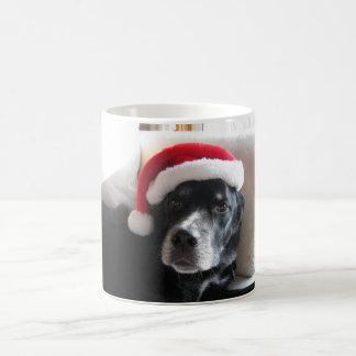 Mug Mélange de rottweiler de Père Noël Chien-Labrador