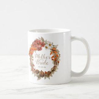 Mug Mère orange de guirlande de mariage de automne de