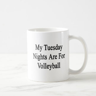 Mug Mes mardi soirs sont pour le volleyball