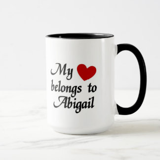 Mug Mon coeur appartient à Abigaïl