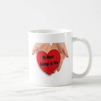 Mug Mon coeur appartient à vous des mains de Valentine