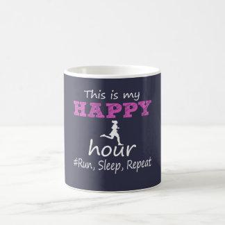 Mug Mon heure heureuse ! Courez, dormez, répétez…