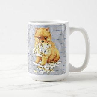 Mug Mon Pomeranian a mangé mon plan de cours