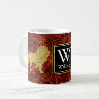 Mug Monogramme de Burlwood de lions