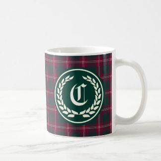Mug Monogramme de tartan de Crawford de clan