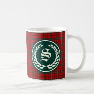 Mug Monogramme de tartan de Scott de clan