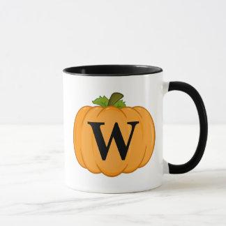 Mug Monogramme orange de citrouille
