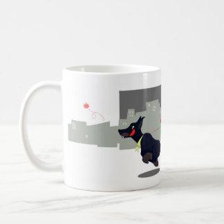 Mug Monstre urbain avec un dobermann