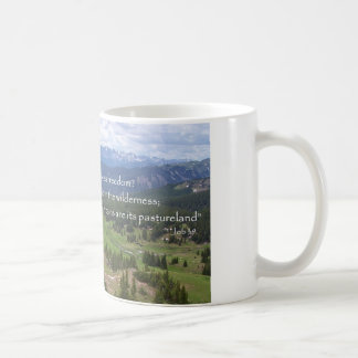 Mug Montagnes et pré, absence de Dieu
