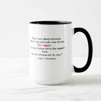 """Mug Mot-Nuage """"végétalien"""" - porcin et citation"""
