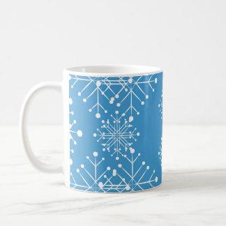 Mug Motif, bleu et blanc de flocon de neige