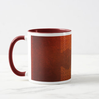 Mug Motif celtique contemporain orange