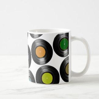 Mug motif de disques vinyle de couleur